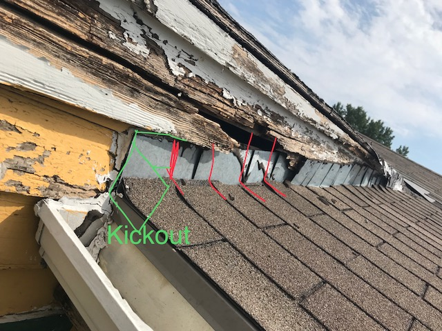 improper flashing and wood rot